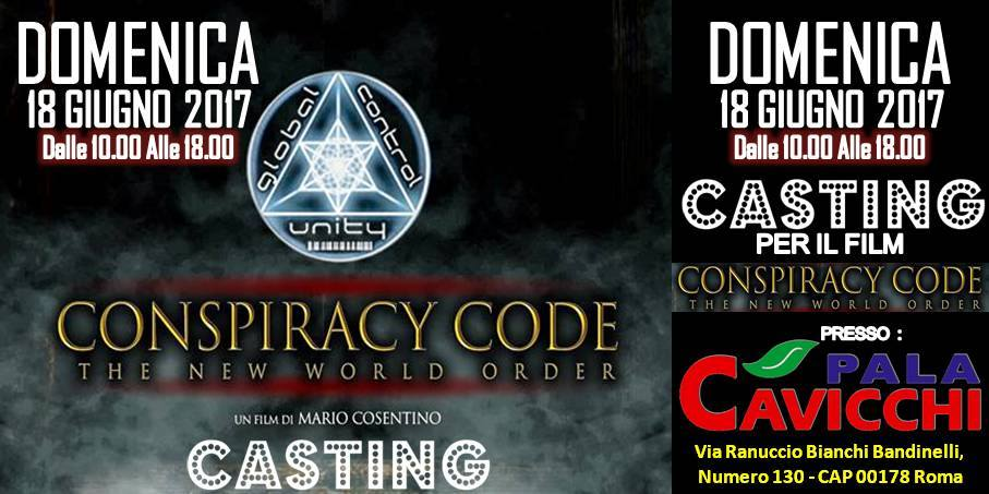 Conspiracy code, the new world order col patrocinio gratuito di PUER